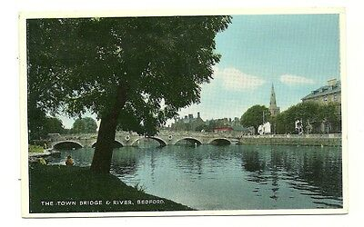 Bedford - a photographic postcard of the Town Bridge and River