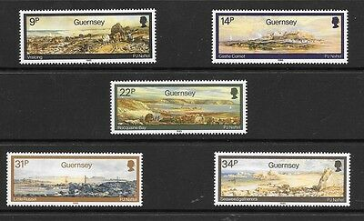 Guernsey 1985 Paintings By Paul Jacob Naftel Stamp Set Mh