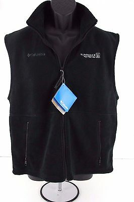 COLUMBIA Mens NEW Black Fleece VEST Size MEDIUM Sundance STELLA ARTOIS
