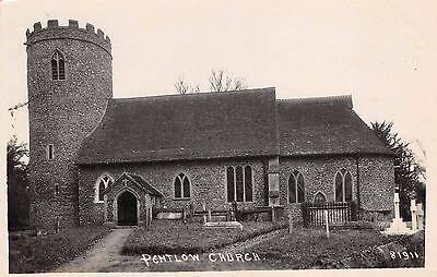 Essex - PENTLOW, Church,  Real Photo.
