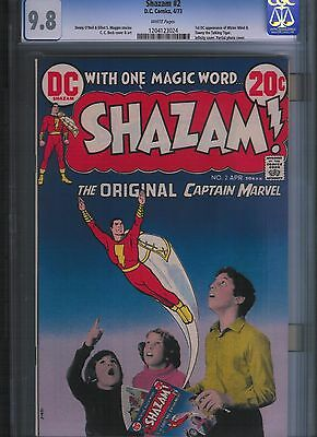 Shazam! # 2 CGC 9.8  White Pages. UnRestored