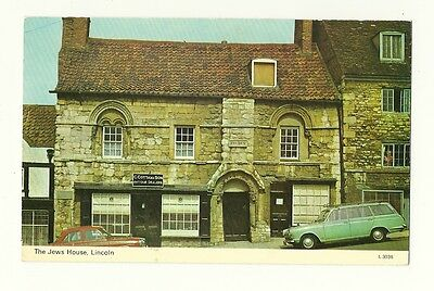 Lincoln - a photographic postcard of The Jew's House