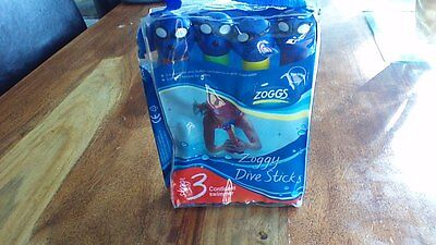 Zoggs Zoggy Dive Sticks with Carry Case & Instructions