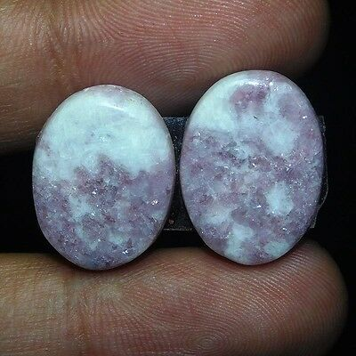 19.55Cts 100% NATURAL AMAZING LEPIDOLITE OVAL 20X15 LOOSE CAB GEMSTONE PJ355