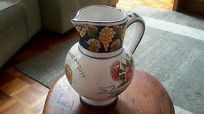 Vintage Hand Made And Painted Jug - R.angou Perne, France