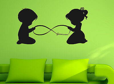 Boy Girl Forever Vinyl Wall Sticker Home Mural Window Decor Room Decal Art Gift