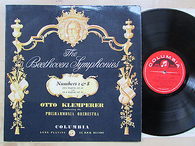 Beethoven - Klemperer - Symphony 1 & 8 - Columbia 33 Cx 1554 - Ex/nm