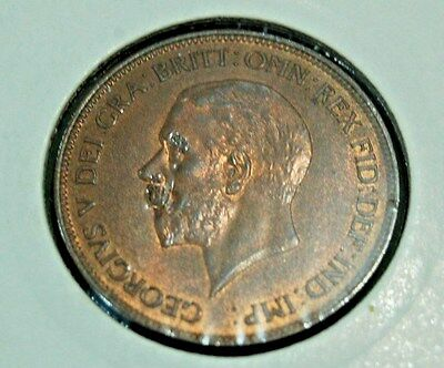1935 - George V - Penny - UNC - beautiful lustre