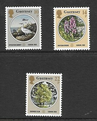 Guernsey 1986 Europa. Nature And Environmental Protection Stamp Set Mnh