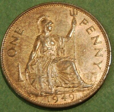 1949 - George VI - Penny - Uncirculated UNC - lustre