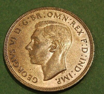 1937 KING GEORGE VI CORONATION  ONE PENNY - Lustrous Uncirculated