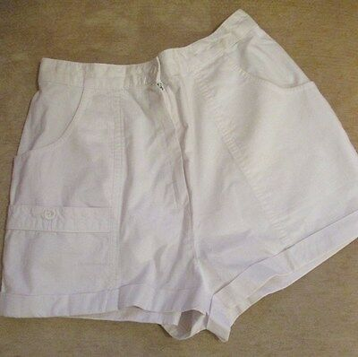 Vintage 1970's White Cotton Shorts from St Michaels (former M&S label)