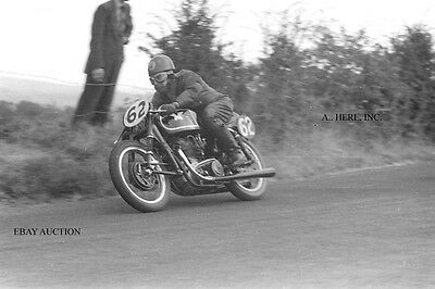 Matchless G45 500 & Ken Swallow - 1955 Ulster Grand Prix - motorcycle photo