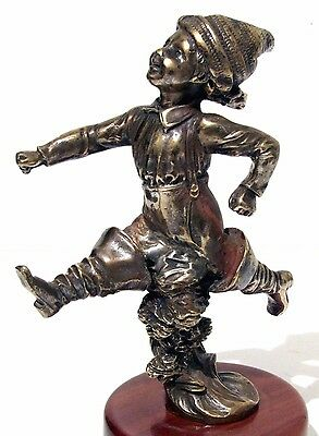 1920 Renevey mascotte automobile petit poucet car mascot automobilia bronze art