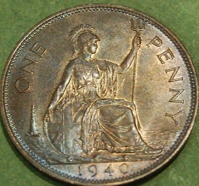 1940  uncirculated George VI One Penny