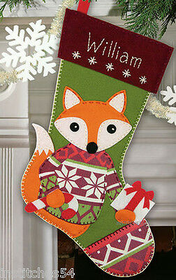 Dimensions Christmas Felt  Applique Kit  Woodland Stocking