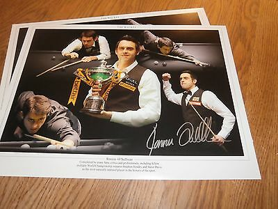Ronnie O,Sullivan hand signed montage+ free snooker gift