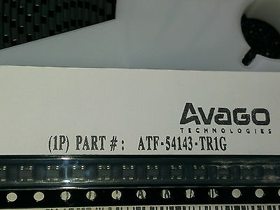 [10 pcs].Genuine AVAGO ATF54143  Low Noise pHEMT, NF=0.5dB(f=2GHz) case SOT343
