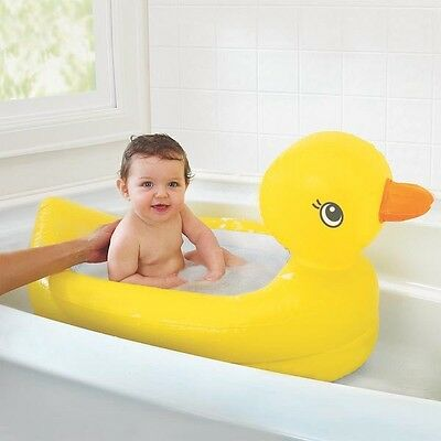 Munchkin White Hot Inflatable Duck Safety Baby Bath Tub Safety Tub for Toddlers