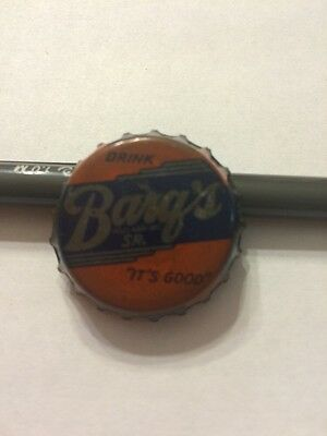"VIntage ""Barg's Sr."" Soda Bottle Cap, Cork Lined--RARE•LOOK•"