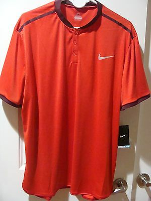 Men's Nike Court Advantage Tennis Polo 729384 657 Size XL, 2XL