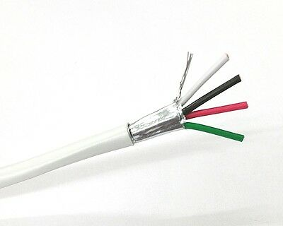 25' 4 Conductor 18 Gauge Shielded Cable, CMR Rated 25 Foot Length 4C 18AWG S1804