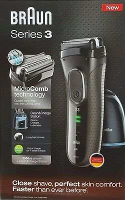 Braun Series 3 Men's Cordless Electric Shaver Cleaning Center Razor, Razors NEW1