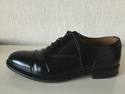 Mens Loake Black Leather Lace Up Shoes - Size 8.5 - Vgc