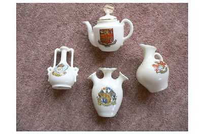2 Pieces Of Gemma Crested China  And 2 Other Pieces