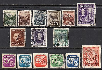 Slovakia: Very Nice Selection of 15-Used-1939-43-Issues