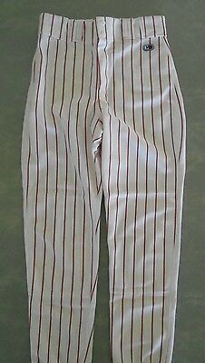 Cliff Keen Adult Softball/Baseball Pants with Belt loops ( Cardinal Pinstripes )