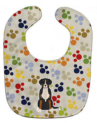 Carolines Treasures  BB5866BIB Pawprints Greater Swiss Mountain Dog Baby Bib