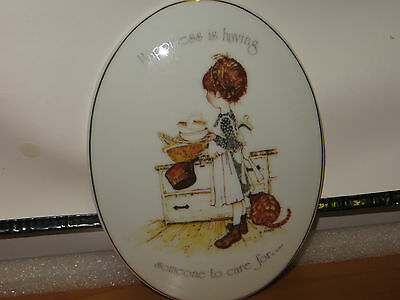 Holly Hobbie Wall Plaque Happiness is having someone to care for