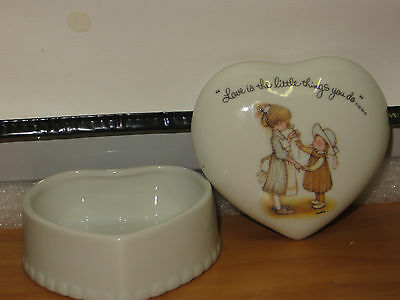 Holly Hobbie heart Shaped trinket box Love is the little things you do