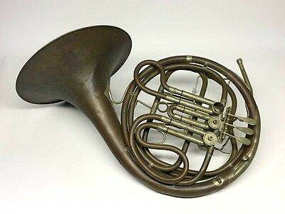 Unusual Early Frank Holton French Horn - Rare Charlton Patent Valve Design