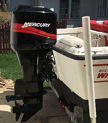 RED Mercury Outboard 115 - 250  hp  Marine Vinyl decal set