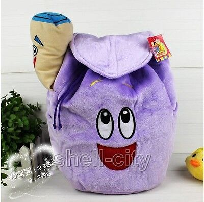 Dora The Explorer Mr Face Backpack Plush with Map Girls Preschool Rescue Bag