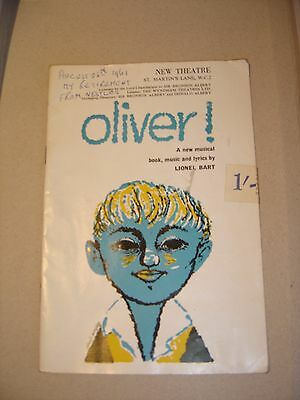 Lionel Bart's Oliver! programme from the New Theatre