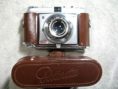 Vintage KODAK Retinette 35mm Film Camera Reomar 45mm Lens Case