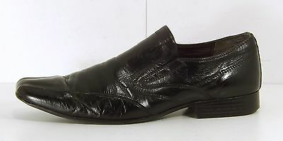 NEXT Black REAL LEATHER Mens Shoes Loafers size 10 EUR 44