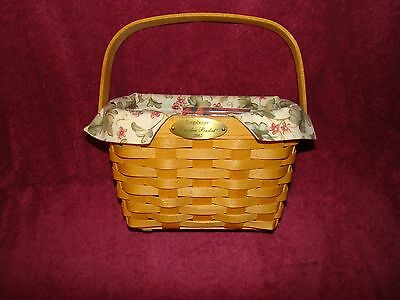 Retired Longaberger 2002 Signed Christmas Collection Traditions Basket