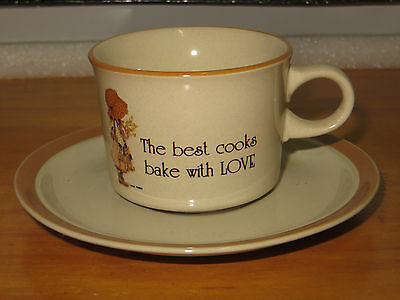 Holly Hobbie Cup & Saucer Brown