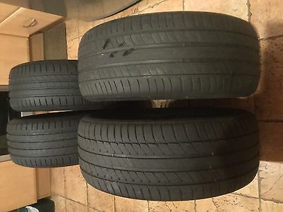 225 50 R 17, 98V. (X4) USED, MICHELIN / CONTINENTAL CAR TYRES. (5mm)