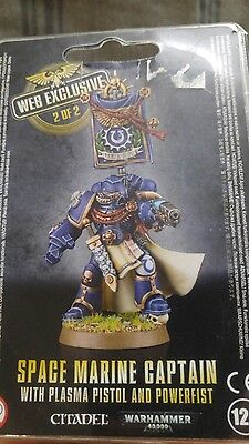 web exclusive #2 space marine captain rare warhammer 40k