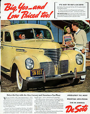 1939 DeSoto car ad --License plate, Worlds's Fair 1939