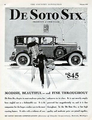 1929 DeSoto Car Ad --Sedan de Lujo---Modish & Beautiful ---x1050