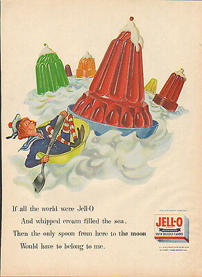 "1956 Jell-O desert ad ""If all the World were Jell-O""-/926"