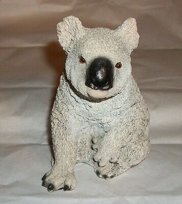 Older 1989 LIVING STONE Koala Figurine Great Textured Detail Glass Eyes 4.5""