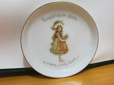 Holly Hobbie Small Plate Thoughtfulness starts in a warm loving heart