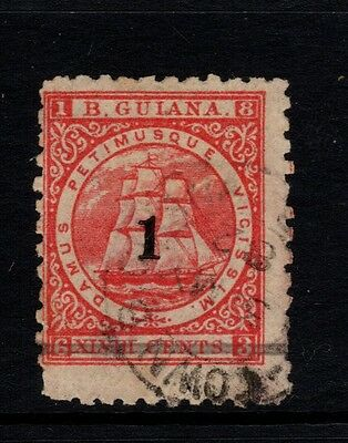 BRITISH GUIANA. SG 152, 1c on 48c RED - used